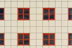 Eight windows (Jan van der Wolf) Tags: map197128v red rood redrule windows ramen lines lijnen gevel facade architecture architectuur redandwhite symmetry