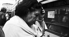 Tough day. (Baz 120) Tags: candid candidstreet city contrast street streetphoto streetcandid streetportrait strangers rome roma ricohgrii europe women monochrome monotone mono noiretblanc bw blackandwhite urban life portrait people provoke italy italia grittystreetphotography faces decisivemoment