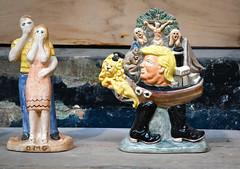 21st century flatbacks (robmcrorie) Tags: spode museum factory stoke trent staffordshire bcb british ceramics biennial 2019 nikon d850 trump omg flatback