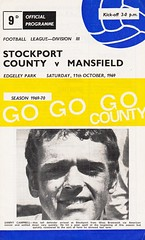 Stockport County vs Mansfield Town - 1969 - Cover Page (The Sky Strikers) Tags: stockport county mansfield town football league division three edgeley park 9d official programme go