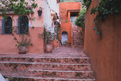 Courtyard and HWW (Irina1010) Tags: courtyard pots flowers walls stairs riad chefchaouen morocco canon outstandingromanianphotographers