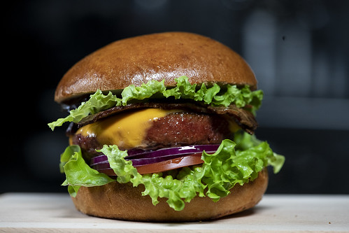 Plant-based bacon cheeseburger