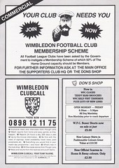 Wimbledon vs Luton Town - 1988 - Page 16 (The Sky Strikers) Tags: wimbledon luton town dons review barclays league division one official matchday magazine pound plough lane