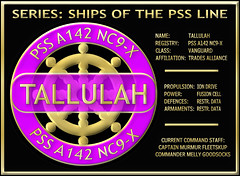 10_Spec_Tallulah_22Feb2019 (Sub Martis) Tags: wwwsubmartiscom pirate pirates piratesweb arianrhod tallullah psstallulah ship starship spaceship star stars fiction sciencefiction adventure spacefiction cayless sandi author badge emblem icon logo sign image picture iondrive vanguard tradesalliance murmur fleetskup melly goodsocks captain commander fusioncell action book novel space cosmic galaxy galactic starships spaceships sandicayless war command power propulsion trades alliance fusion ion cell drive pss pssline