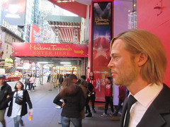2019 Putting out the Pitt - Brad Pitt on sidewalk Wax display 5108 (Brechtbug) Tags: 2019 putting out pitt brad sidewalk wax display madame tussauds 42nd street midtown manhattan museum nyc 10092019 october sometimes vampire new york city museums public royal uk england brit britain british tussaud s mannequin mannequins dummies dummy interview with