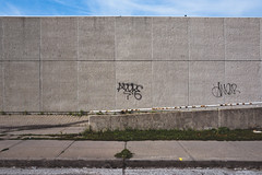 for.the.time.being (jonathancastellino) Tags: toronto vernacular architecture wall graffiti sidewalk leica q sky series ordinary texture curb