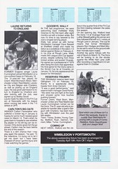 Wimbledon vs Luton Town - 1988 - Page 7 (The Sky Strikers) Tags: wimbledon luton town dons review barclays league division one official matchday magazine pound plough lane