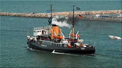 "The steam icebreaker ""Stettin"" at the Hanse Sail 2019 in Rostock-Warnemünde (Ostseetroll) Tags: deu deutschland geo:lat=5417924500 geo:lon=1209113690 geotagged mecklenburgvorpommern rostock warnemünde hansesail2019 dampfeisbrecher steamicebreaker stettin olympus em10markii"