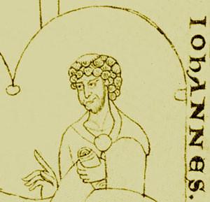 76 Иоанн Скотт Эриугена Миниатюра из рукописи XI в