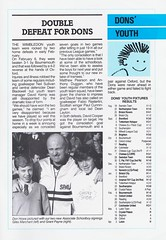 Wimbledon vs Luton Town - 1988 - Page 31 (The Sky Strikers) Tags: wimbledon luton town dons review barclays league division one official matchday magazine pound plough lane