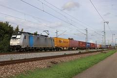 LINEAS 186 294-5 Containerzug, Bruchsal (michaelgoll777) Tags: br186 traxx railpool lineas
