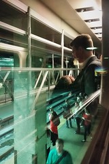I'm Looking Out The Window (michael.veltman) Tags: commute commuting commuter commuters metra train chicago illinois union station