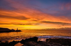 Colorful morning (Vest der ute) Tags: xt2 spain sea seascape rocks sky clouds landscape fav200