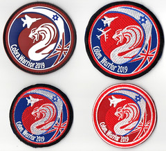 """133rd Squadron """"Knights of The Twin Tail"""" patch set, Operation Cobra Warrior 2019 - RAF Waddington (TAIRNGREACHT_BAS) Tags: operations cobra warrior 2019 raf waddington israeli air force f15"""
