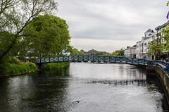 Sligo - Bridge of Light Over Garavogue River (Le Monde1) Tags: ireland connacht connaught republic nikon d7000 countysligo eire yeats abbey footbridge bridgeoflight