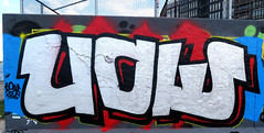 Graffiti in Amsterdam (wojofoto) Tags: amsterdam nederland netherland holland javaeiland legalwall graffiti streetart wojofoto wolfgangjosten throw throwup throwups uow