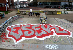 Graffiti in Amsterdam (wojofoto) Tags: amsterdam nederland netherland holland javaeiland legalwall graffiti streetart wojofoto wolfgangjosten esek throw throwup throwups