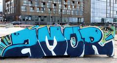 Graffiti in Amsterdam (wojofoto) Tags: amsterdam nederland netherland holland javaeiland legalwall graffiti streetart wojofoto wolfgangjosten amore throw throwup throwups