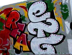 Graffiti in Amsterdam (wojofoto) Tags: amsterdam nederland netherland holland javaeiland legalwall graffiti streetart wojofoto wolfgangjosten rfa etg throw throwup throwups