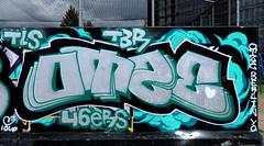 Graffiti in Amsterdam (wojofoto) Tags: amsterdam nederland netherland holland javaeiland legalwall graffiti streetart wojofoto wolfgangjosten otze throw throwup throwups