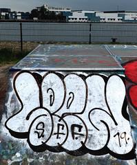 Graffiti in Amsterdam (wojofoto) Tags: amsterdam nederland netherland holland javaeiland legalwall graffiti streetart wojofoto wolfgangjosten spew throw throwup throwups