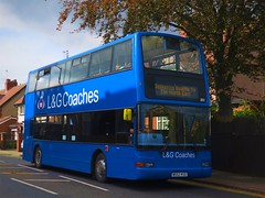 L&G Coaches 201 (W552RSG) - 09-10-19 (02) (peter_b2008) Tags: dennis trident 552 251 lothianbuses birtley kingsleycoaches w552rsg lgcoaches buses president transport plaxton buspictures