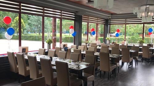 Tafeldecoratie 3ballonnen Vaderdag Atlantis Arnhem