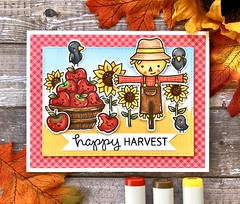 Happy Harvest (The Queen's Scene) Tags: card cardmaking colorthrowdown stamping papercrafting fall handmadecard lawnfawn copicmarkers