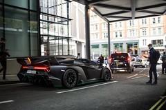 Nemesis. (TJHarrington) Tags: lamborghini veneno roadster venenoroadster nero nemesis black 1of9 matte matteblack londoncars supercarsoflondon car supercar hypercar rare