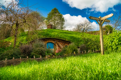 Next door to Bag End (FireDevilPhoto) Tags: old ruralscene grass nature architecture cultures tree history landscape church outdoors greencolor village sky scenics house christianity summer woodmaterial farm hobbit lordoftherings baggins bilbo sony a9 tamron filmset movie peterjackson culture tolkien