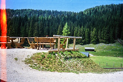 Terrace, Ritzingerhuette (svnsmts) Tags: 35mm dachstein austria canon a35f kosmofoto kodak portra400 shotonfilm filmphotography analog gosau