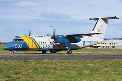 Swedish Coast Guard (Kustbevakning), De Havilland Canada DHC-8-311Q, SE-MAC. (M. Leith Photography) Tags: aberdeen airport dyce flying egpd scotland aviation dash 8 aeroplane coast guard swedish semac dhc8 mark leith photography nikon d7200 70200vrii nikkor scottish sunshine