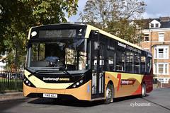 Go Ahead East Yorkshire 283, YW19VOJ. (EYBusman) Tags: go ahead north east yorkshire motor eyms hull bus coach albemarle crescent scarborough town centre brand new alexander dennis enviro 200 dart mmc sevens field yw19voj eybusman services