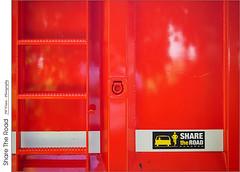 Share The Road (jwvraets) Tags: grimsby dumptruck towntruck sign sharetheroad orange opensource rawtherapee gimp olympus omdem5 mzuiko1442mmez13556