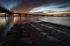 Cobbled Slipway (Rob Pitt) Tags: rock ferry river mersey wirral slipway cobbles cobbled merseyside pier longexposure sunrise morning sony a7rii england north west