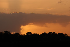 behind the cloud (Jos Mecklenfeld) Tags: sunset sonnenuntergang zonsondergang landscape landschaft landschap westerwolde niederlande nederland sonya6000 sonyilce6000 sonye55–210mmf45–63oss sel55210 terapel groningen netherlands