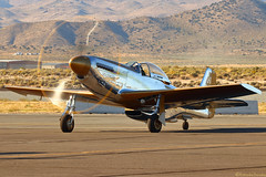 Goldfinger (EverydayTuesday) Tags: p51 p51d mustang rollsroyce merlin v12 renoairraces reno nv nevada stead airport canon 80d 100400
