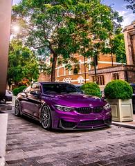 Low M4 (rolandkalviste) Tags: bmw m4 london londoncars low stance purple summer bmwm4 bmwm3 m3 violet cars car carphotography carspotting automotive auto bmwm mpower
