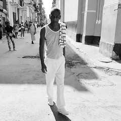 A man walks thinking in Havana