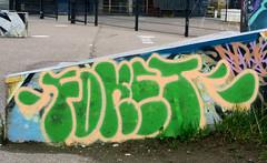Graffiti in Amsterdam (wojofoto) Tags: amsterdam nederland netherland holland javaeiland legalwall graffiti streetart wojofoto wolfgangjosten foket throw throwup throwups