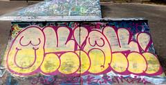Graffiti in Amsterdam (wojofoto) Tags: amsterdam nederland netherland holland javaeiland legalwall graffiti streetart wojofoto wolfgangjosten throw throwup throwups