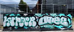 Graffiti in Amsterdam (wojofoto) Tags: amsterdam nederland netherland holland javaeiland legalwall graffiti streetart wojofoto wolfgangjosten otze kopzer throw throwup throwups