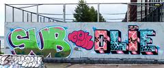 Graffiti in Amsterdam (wojofoto) Tags: amsterdam nederland netherland holland javaeiland legalwall graffiti streetart wojofoto wolfgangjosten sub gek olie