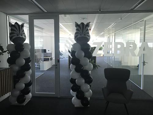 Ballonpilaar Breed Zebra Technologies Utrecht