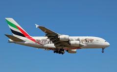 Emirates, A6-EEQ, MSN 141, Airbus A 380-861, 29.06.2019,  FRA-EDDF, Frankfurt (United for Wildlife livery) (henryk.konrad) Tags: emirates a6eeq msn141 airbus a388 380861 fraeddf frankfurt henrykkonrad unitedforwildlife