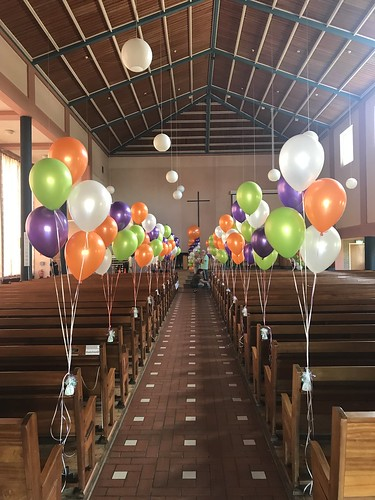 Tafeldecoratie 5ballonnen Diplomering CVO-AV PKN Johanneskerk Gorinchem