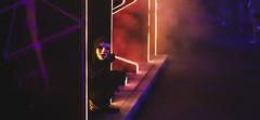 Anarch-cade Scare Actor at Universal Orlando's Halloween Horror Nights 2019 (hernandez.philip) Tags: halloweenhorrornights halloween hauntedhouses hauntedattraction makeup costume orlando florida