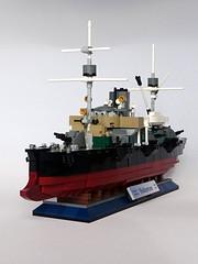 KK Valkyrien (2) (henrik.soeby) Tags: lego ironclad cruiser valkyrien scalemodels steamer