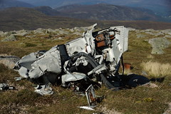 Lunch By The Wreckage (steve_whitmarsh) Tags: aberdeenshire scotland scottishhighlands highlands cairngorms tsagairtmor mountain hills landscape nature topic