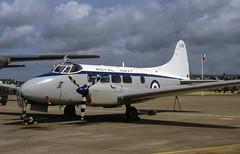 G-SDEV. de Havilland DH.104 Sea Devon C.20 (Ayronautica) Tags: dehavillanddh104seadevonc20 xk895 royalnavy gsdev 1993 july egov rafvalley propliner military airshow scanned aviation ayronautica